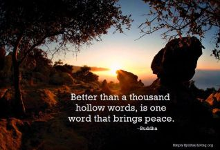 Great Buddha quote on peace from SSL