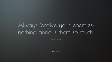 Oscar Wilde quote on Forgiveness
