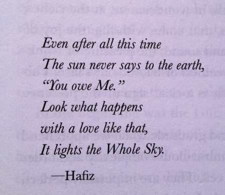 love is all there is hafiz love quote July 30 2016