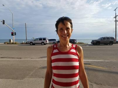 Debbie after Half Marathon