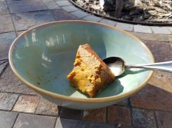 pumpkin pie after