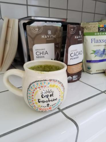 Creating a New Habit ingredients with cup