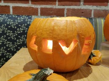 Here's the pumpkin I carved :)